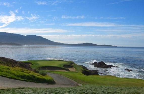 El famoso (y bello) hoyo 7 de Pebble Beach Golf Links