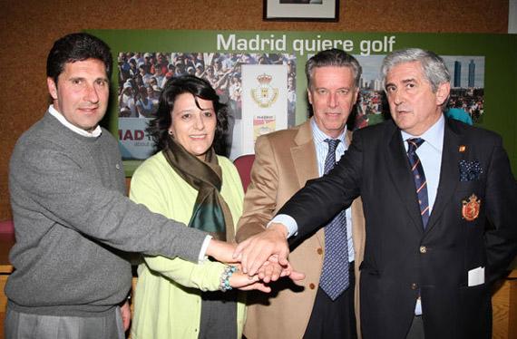 José María Olazábal, Inmaculada Juárez, Ignacio Guerras y Gonzaga Escauriaza (foto de Fernando Herranz)