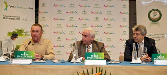 Miguel Ángel Jiménez, Luciano Alonso y Miguel Martínez (foto de Michael Denker)