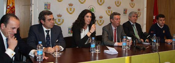 Carlota Castrejana, Directora General de Deportes de la Comunidad de Madrid, se dirige a los presentes (foto de Fernando Herranz)