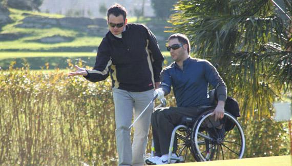 Golf adaptado en Goiburu Golf