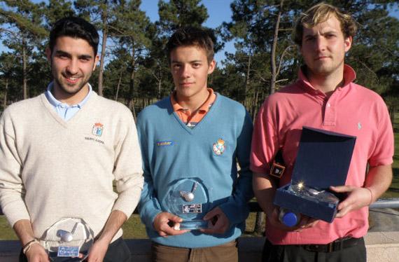 Antón Vázquez, Adrián Martínez y Jorge Tomé