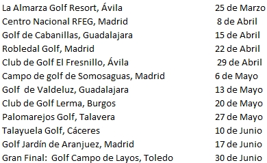 Calendario Primavera Golf-Tour
