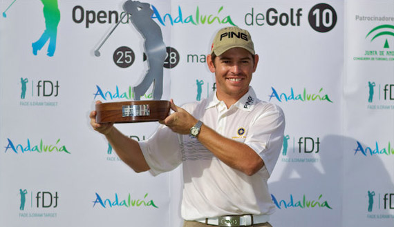 Louis Oosthuizen, campeón del Open de Andalucía (foto de Michael Denker)