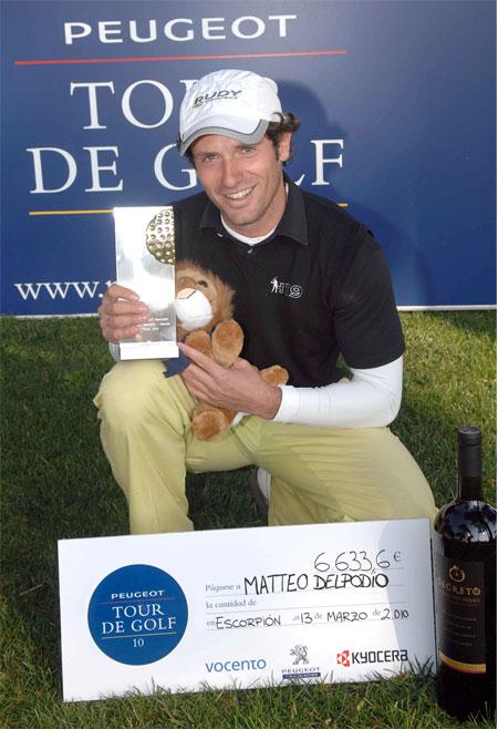 Matteo Delpodio, ganador del Peugeot Tour Golf Escorpión (foto de Luis Corralo)