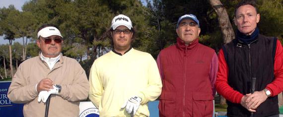 El equipo del profesional Sergio Gutiérrez (segundo por la izquierda) (foto de Luis Corralo)