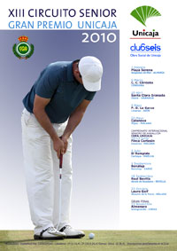 Cartel del XIII Circuito Senior de Golf 2010 Gran Premio Unicaja
