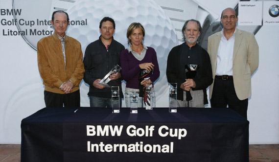 Juan Ramón Grau (Presidente del Club de Golf Llavaneras), Andreu Pérez Saldaña (ganador de categoría A), Paola Garriga-Nogués (finalista en damas), Fernando Amat (vencedor en la categoría B) y José Sánchez (Gerente de Litoral Motor)