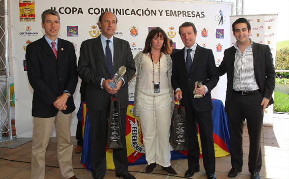 Javier Polanco y Manuel de Andrés, ganadores de la segunda prueba de la II Copa Comunicación y Empresas (foto de Fernando Herranz)