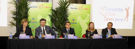 Presentación del Tenerife Ladies Open de 2010 (foto de Felipe Pérez)