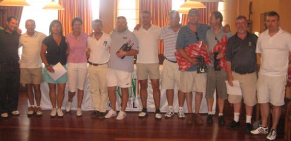 Ganadores del II Torneo Por Equipos Alicante Golf 2010