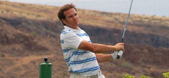 Álvaro Velasco, récord del campo en Tecina Golf (foto de Xana)