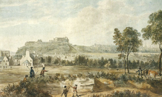 Vistas del links de Bruntsfield, de Paul Sandby
