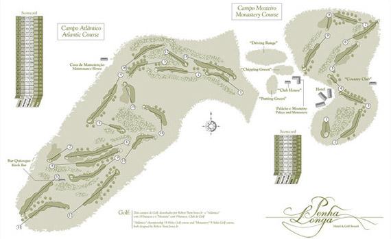 Plano del campo de Penha Longa