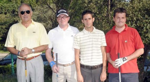 José Mª Ortiz de Pinedo, José Luis Velázquez, Sergio González y Manuel Mercado, ganadores del Pro-Am del Peugeot Tour C. C. Villa de Madrid