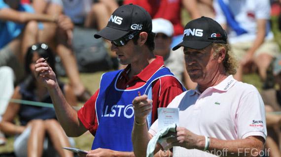 Miguel Ángel Jiménez durante la última vuelta (foto de Alexis Orloff/Fédération Française de Golf)