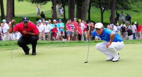 Con Anthony Kim lesionado, y KJ Choi ausente, sólo Tiger Woods puede optar al doblete