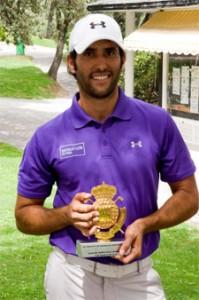 Diego Suazo, ganador de la prueba del Club de Campo del Circuito de Madrid de Profesionales
