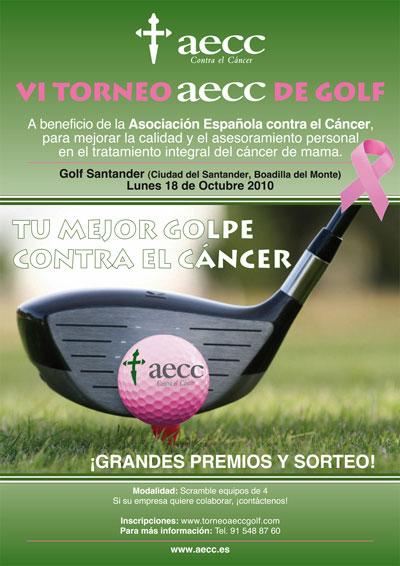 Cartel del VI Torneo aecc de Golf
