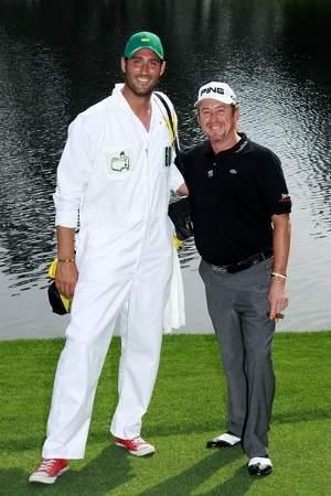 Miguel Ángel Jiménez y Pedro Fernández en el Masters de Augusta