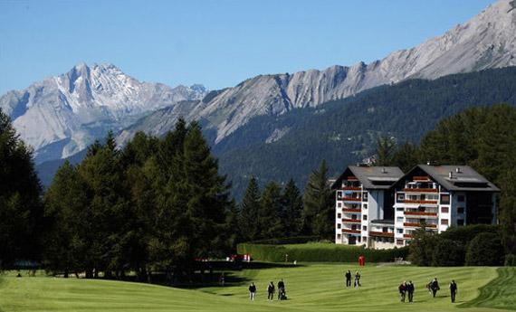 Un resort enclavado en los Alpes