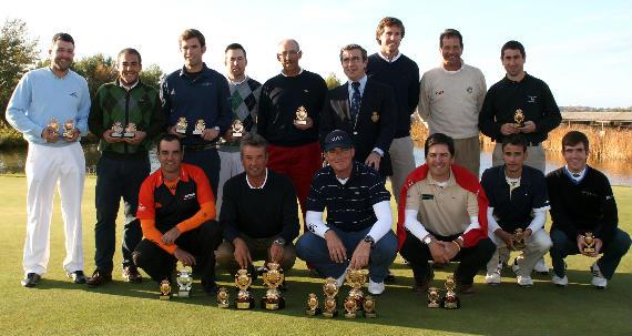 Ganadores en el Circuito de Madrid de Golf 2010 (foto de Gnews)