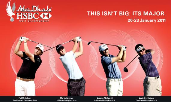 Cartel del Abu Dhabi HSBC Golf Championship
