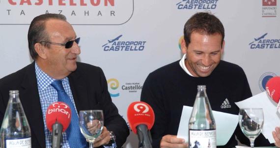 Carlos Fabra y Sergio García en la presentación del 4 Tours