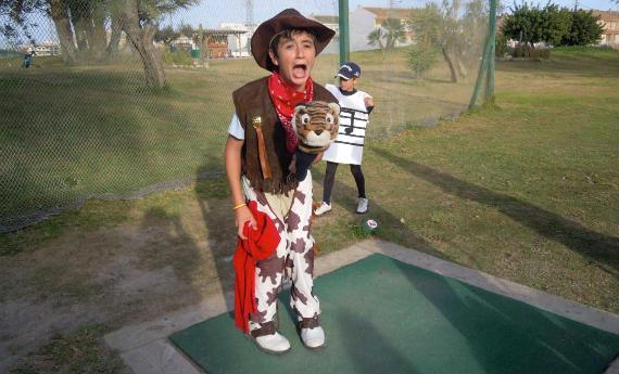 Uno de los simpáticos participantes del torneo infantil de Torre Pacheco
