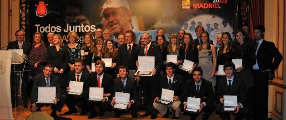 Premiados en la Gala del golf 2010