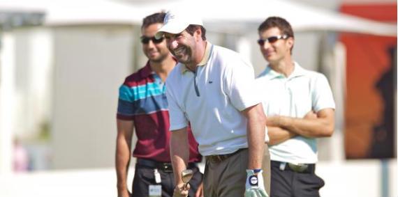 Olazábal, Alex Larrazábal y Alejandro Cañizares en la primera vuelta de prácticas del Volvo Golf Champions