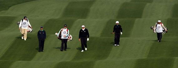 Una de las onduladas calles del Royal Golf Club (foto de Volvo in Golf)