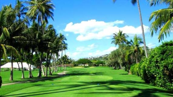 Panorámica del Waialae Country Club, espectacular sede del Sony Open