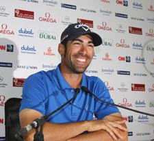 Álvaro Quirós, feliz en la rueda de prensa