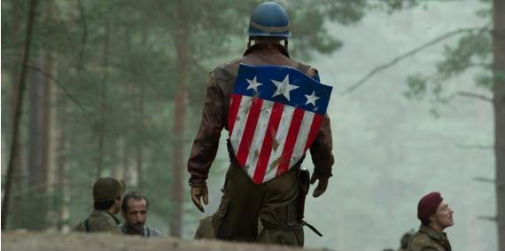 El primer escudo del Capitán América, en la película que se está rodando actualmente