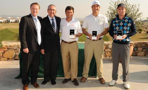 Wayne Hachey, Paco Sardina, Miguel Ángel Martín, Florian Fritsch y Jonathan Caldwell (foto de Jos Linckens/www.golfsupport.nl)
