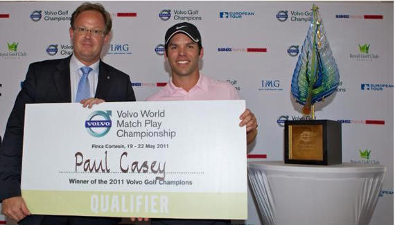 Paul Casey, gran fichaje para el Volvo World Match Play Championship
