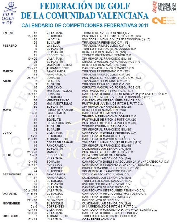 calendario oficial FGCV