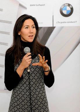 Ainhoa Cea, durante su presentación