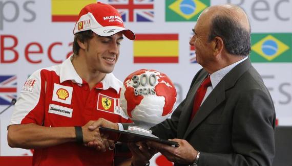 Fernando Alonso y Emilio Botín, de las pistas a los greenes