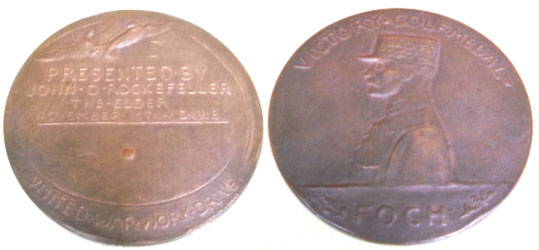 Reverso y anverso de la Medalla Foch