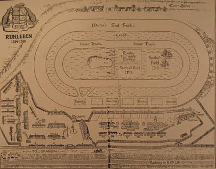 Plano del presidio de Ruhleben