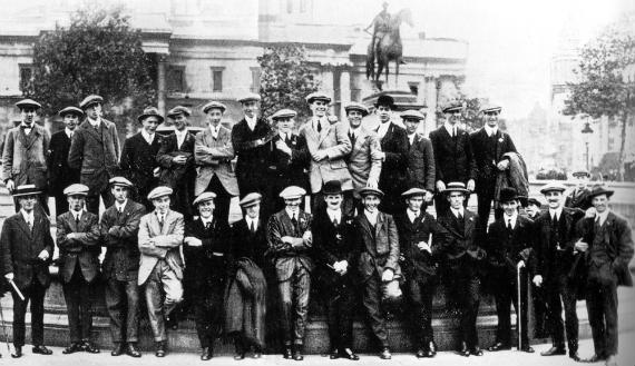 Foto de la Brigada Niblick en Trafalgar Square