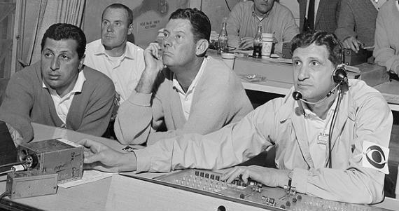 Frank Chirkinian, padre del golf televisado, durante una retransmisión del Masters