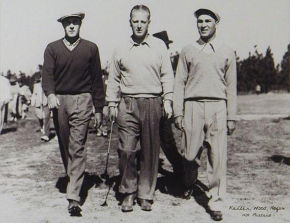 Herman Keiser, Ben Hogan y Craig Wood en el Masters de 1939