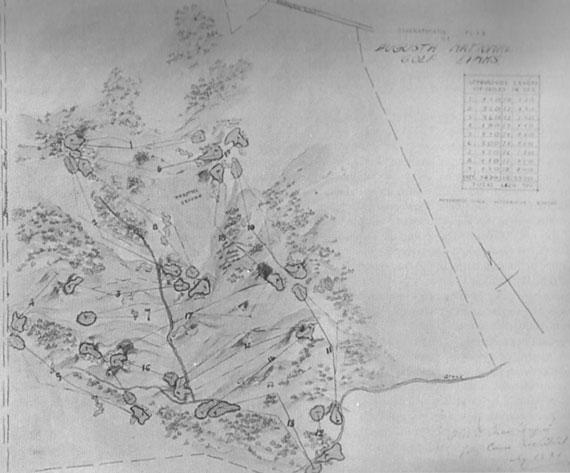 Primer plano esbozado por Alister Mackenzie en 1931 al terminar su paseo con Jones