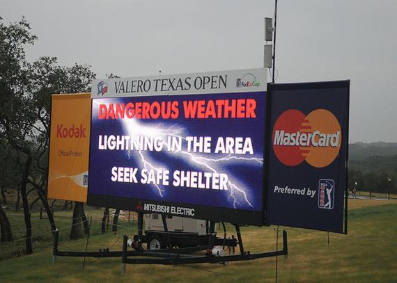 Esta semana no se esperan los fenómenos tormentosos que asolaron el Valero Texas Open el año pasado
