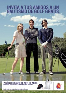 Cartel de Bautismo de golf