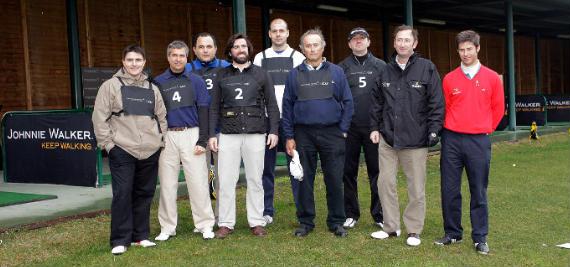 Jorge Campillo con los ganadores del primer trimestre del Torneo Hándicap Johnnie Walker