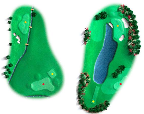 El hoyo 16 en 1934 y 2011 (Chris O'Riley/Golf Digest)